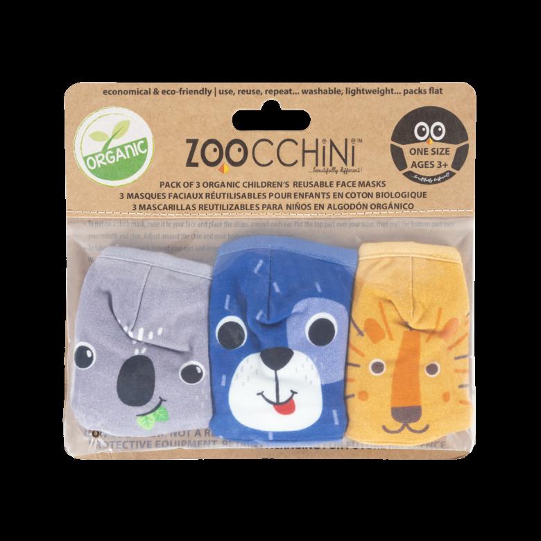 Zoocchini organic animal mask set.
