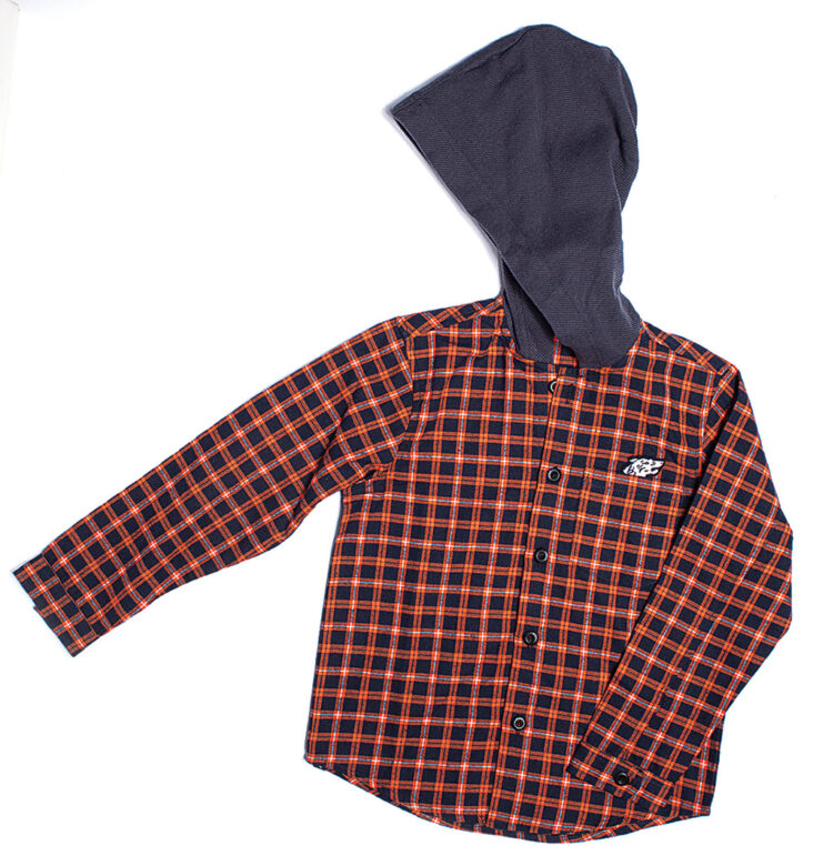 Munster Kids hooded  button-down