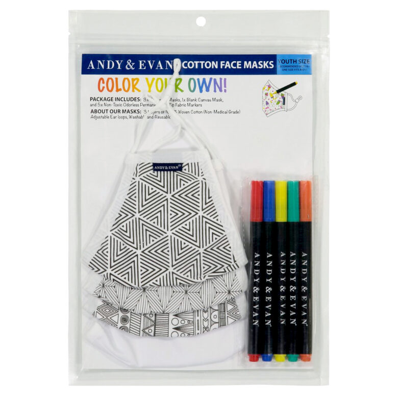 Andy & Evan  color-your-own-mask kit