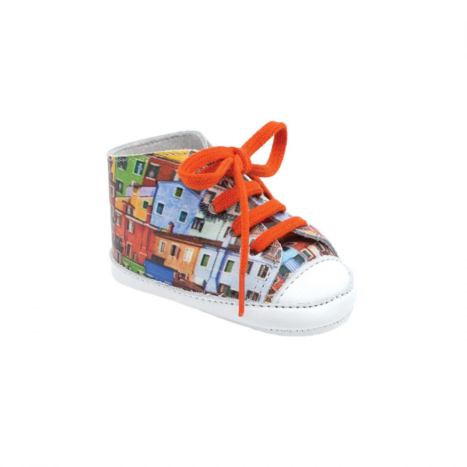 Patt'touch burano print  leather sneaker