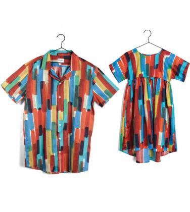 Wolf + Rita girls' dress and matching shirt
