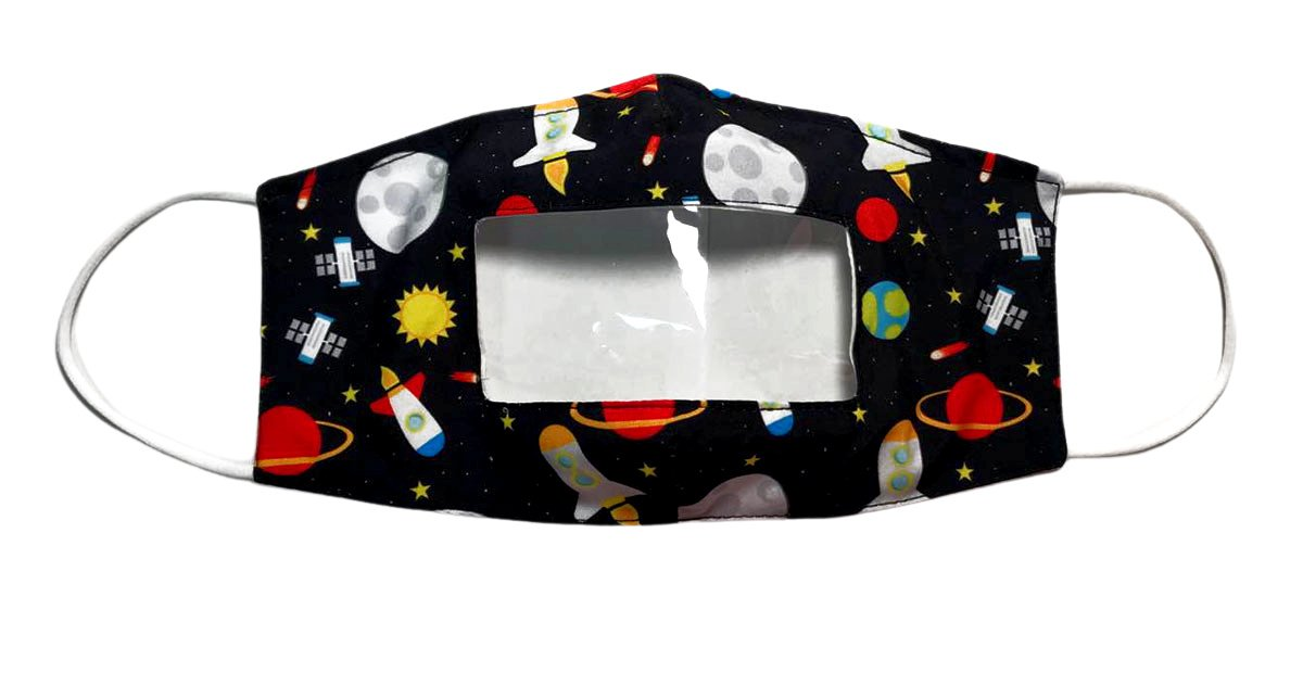 Baby Jack and Company transparent space mask
