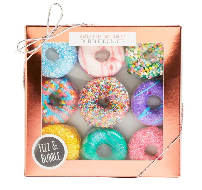 Fizz and Bubble donut bath bombs