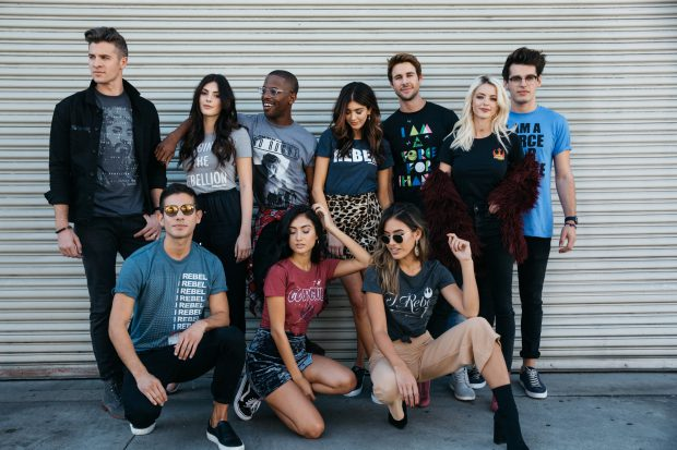 Influencers come together to make change with the exclusive T-shirt collection.