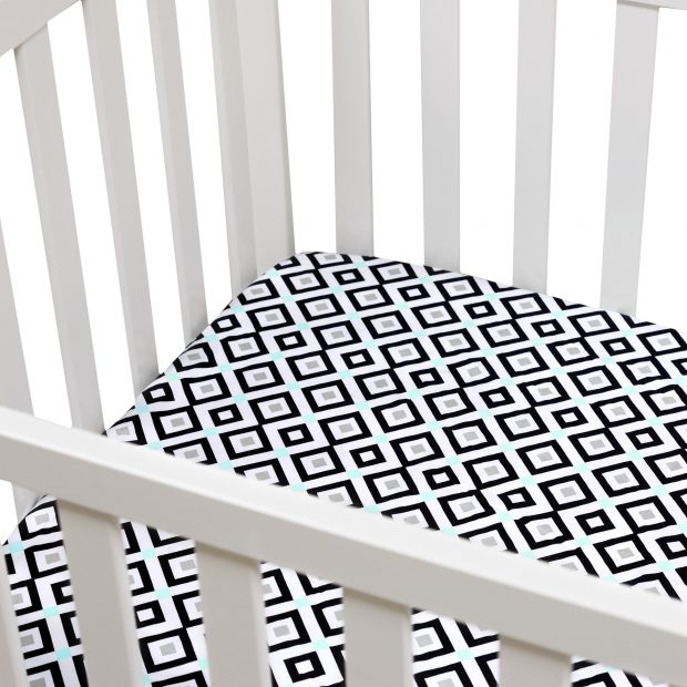 Bed sheets by Jonathan Adler for Fisher-Price.