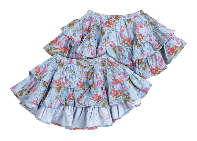 Paper Wings skirt (front and back view)
