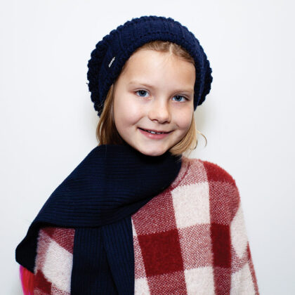 "Smilla, Berlin Fashionista: ""I love my big warm jacket  in very  light blue. Perfect for  snowball fights!"""