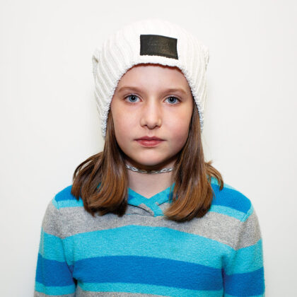 """Tess, Lego Architect:  """"Beanie hats are fun for winter! They're so comfortable and come in all different colors and styles."""""""