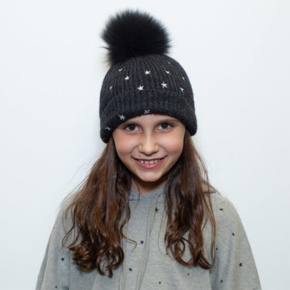 "Charlotte, Queen of the Slopes:  ""I love winter so I can wear gloves, hats and a cute winter jacket!"""