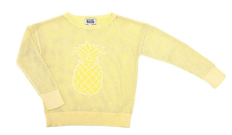 Autumn Cashmere mesh-knit sweater