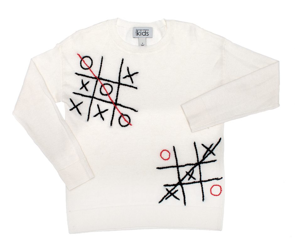 Autumn  Cashmere  tic-tac-toe  sweater