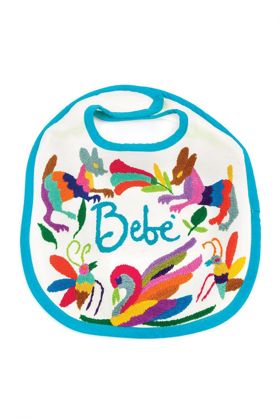Nativa hand-embroidered artisan bib