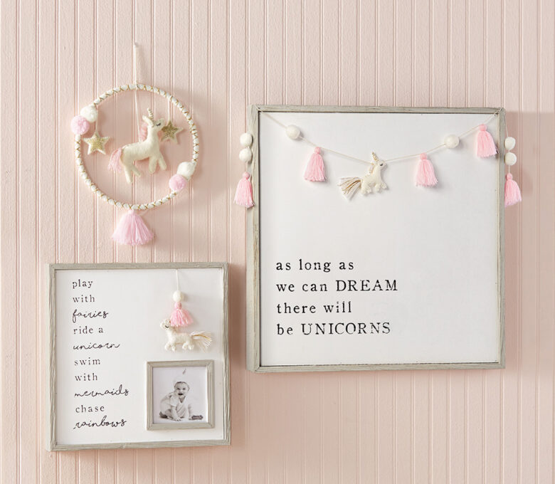 Rustic wood frames with complementary sentiments  showcase cherished memories.