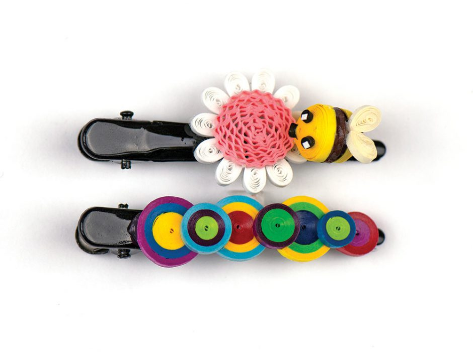 Quilling Card barrettes