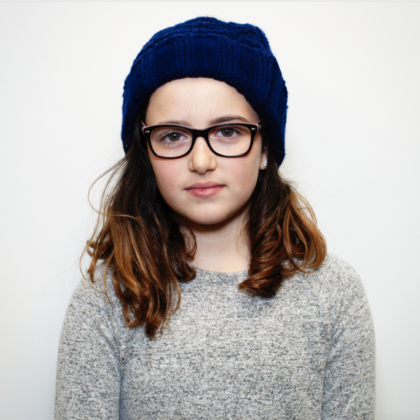 """Emma, Hot Chocolate Taster: """"I love hats/earmuffs because I don't get to wear them during the summer."""""""