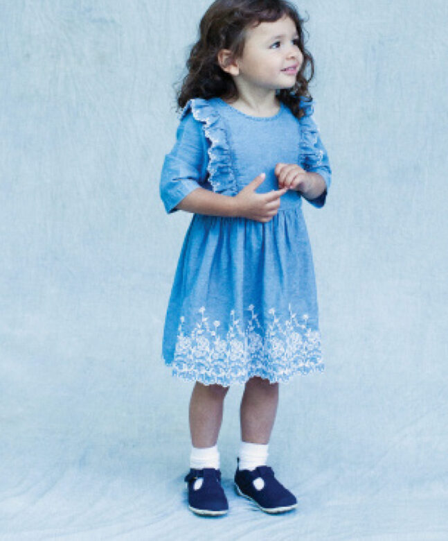 Willa wears Blu & Blue dress and Baby Deer shoes.