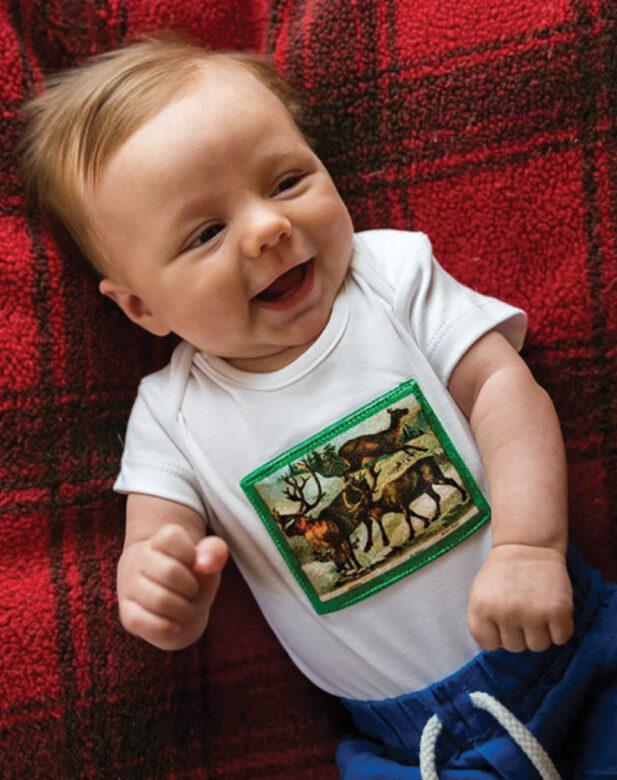 Mandala Baby reindeer one-piece