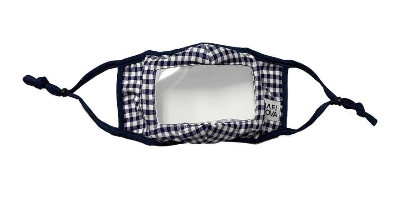 Rafi Nova transparent check mask