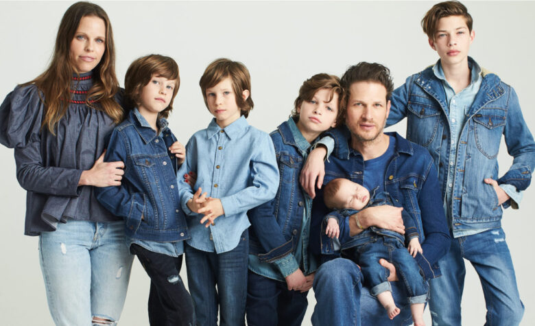 From left to right: Stephanie wears Tia Cibani top with Levi's jeans; Sawyer wears Levi's jacket and Lee pants; Asher wears Appaman shirt and jeans; Navy wears Tommy Hilfiger shirt, Losan Denim jacket and Joe's Jeans pants; Uri wears Autumn Cashmere top with Mavi Jeans jacket and jeans; Boheme wears Losan Denim jacket and jeans; Indy wears Lee jacket with Joe's Jeans top and Levi's pants.